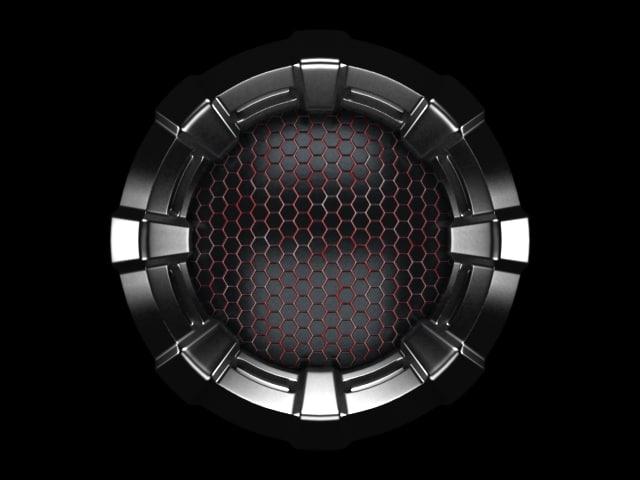structure hexagonal tiles 3d max