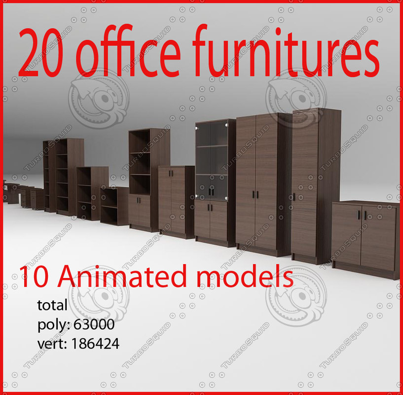 3d office furnitures