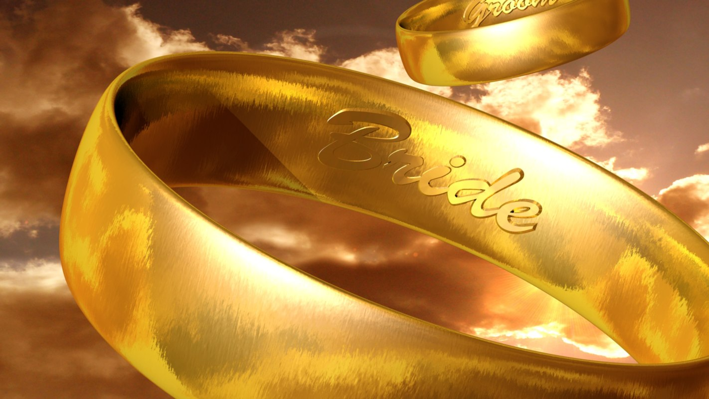 cinema4d animation wedding rings