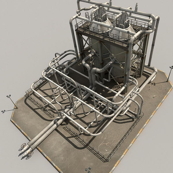 3ds max refinery parts