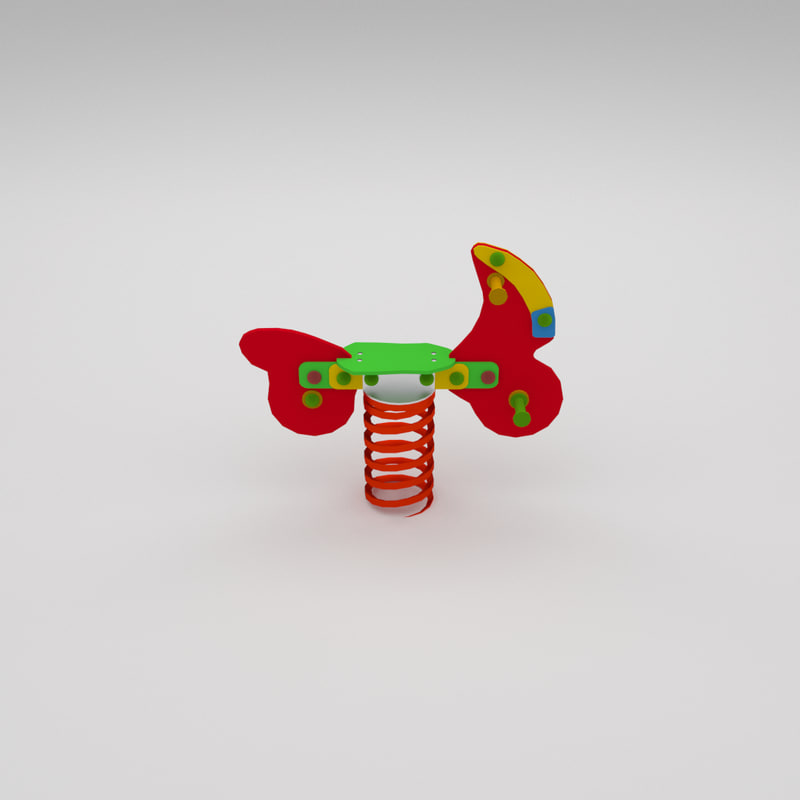 toy springtoy spring 3d model