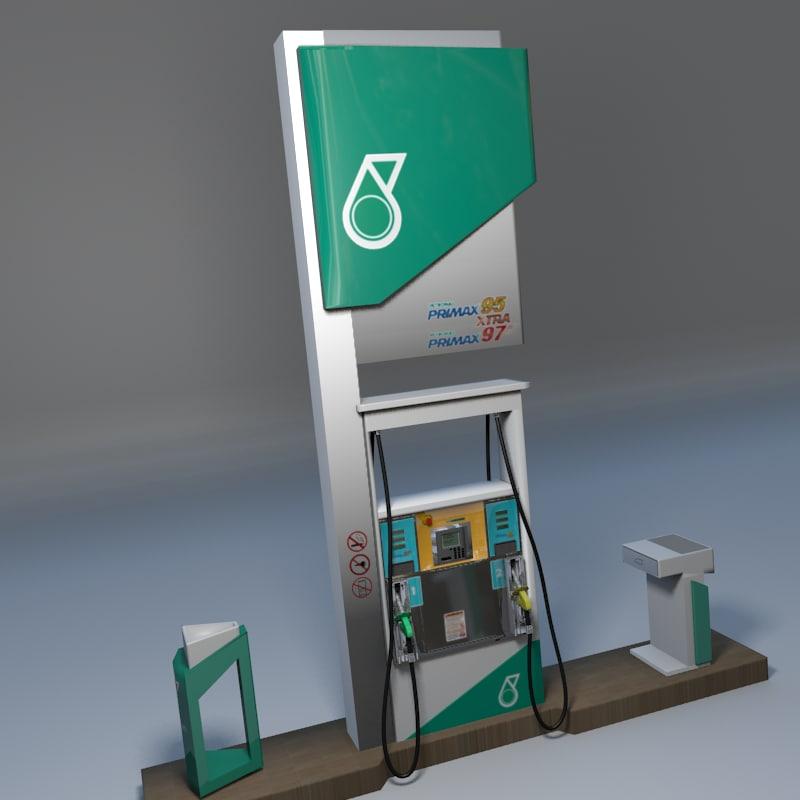 petronas fuel dispenser unit 3d blend