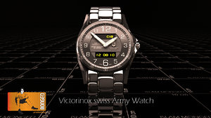 3d model victorinox swiss army watch