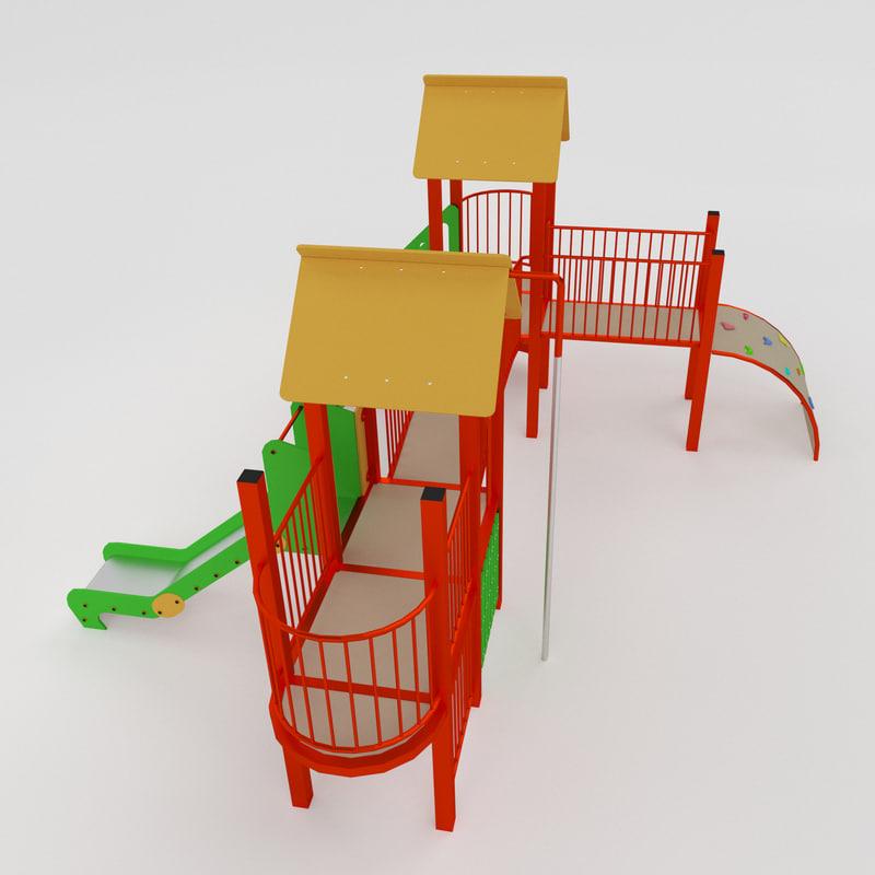3d model playful set