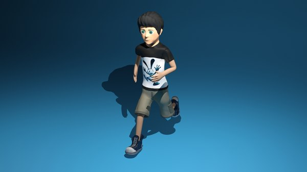 free rigged animators 3d model
