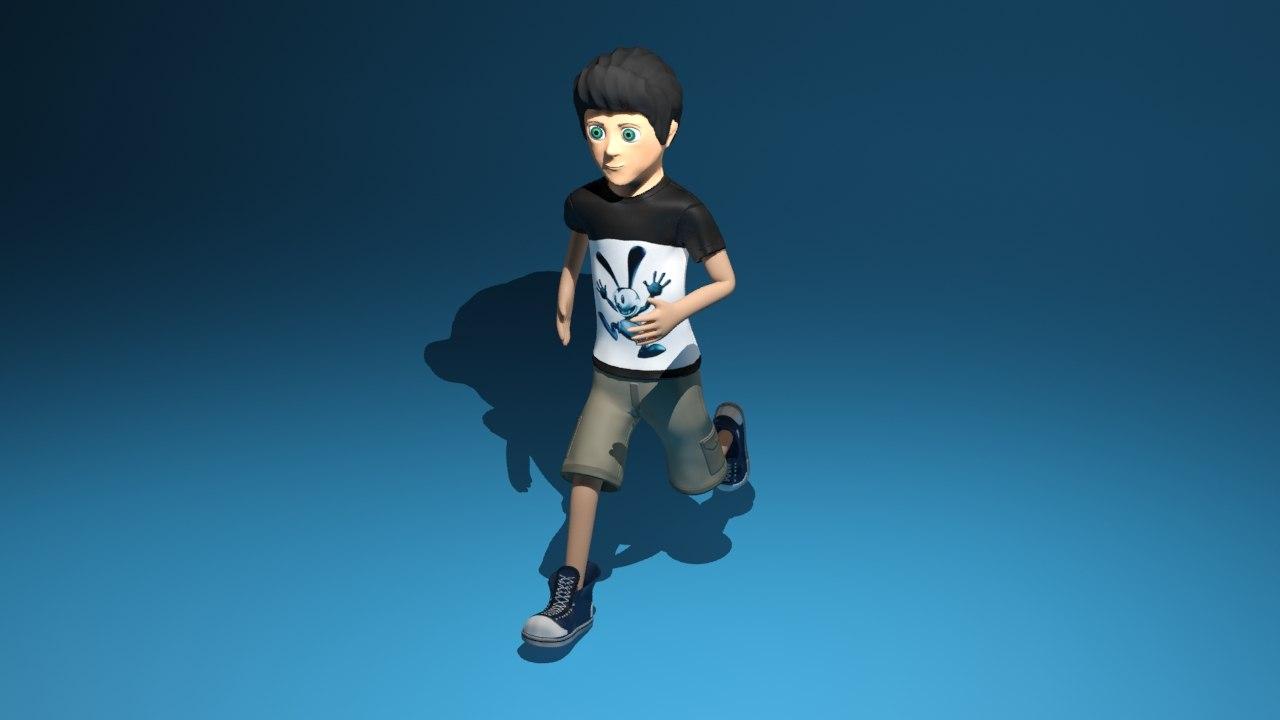 free rigged animators 3d model