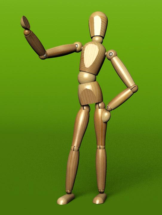 dummy boy 3d model