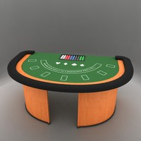 3d black jack table model