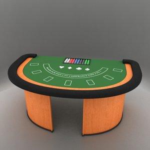 3d black jack table model