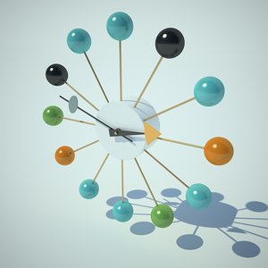 clock nelson ball 3d model