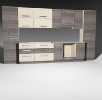 kitchen furnitures pack 1 model 08 without accessories.