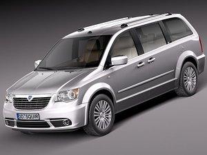 3d lancia voyager van 2012 model