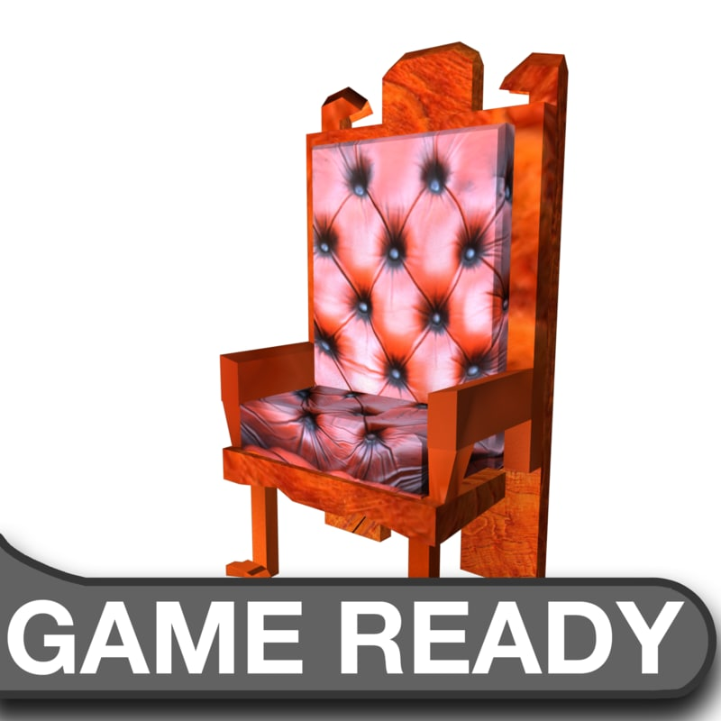 wooden leather chair 3d model
