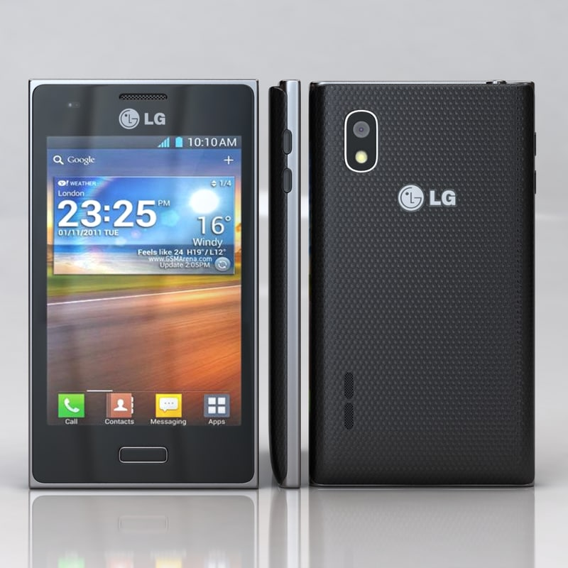 3d model lg optimus l5 e610