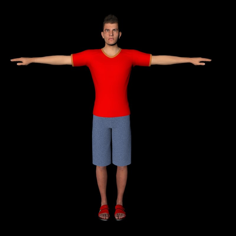 male character 3d 3ds