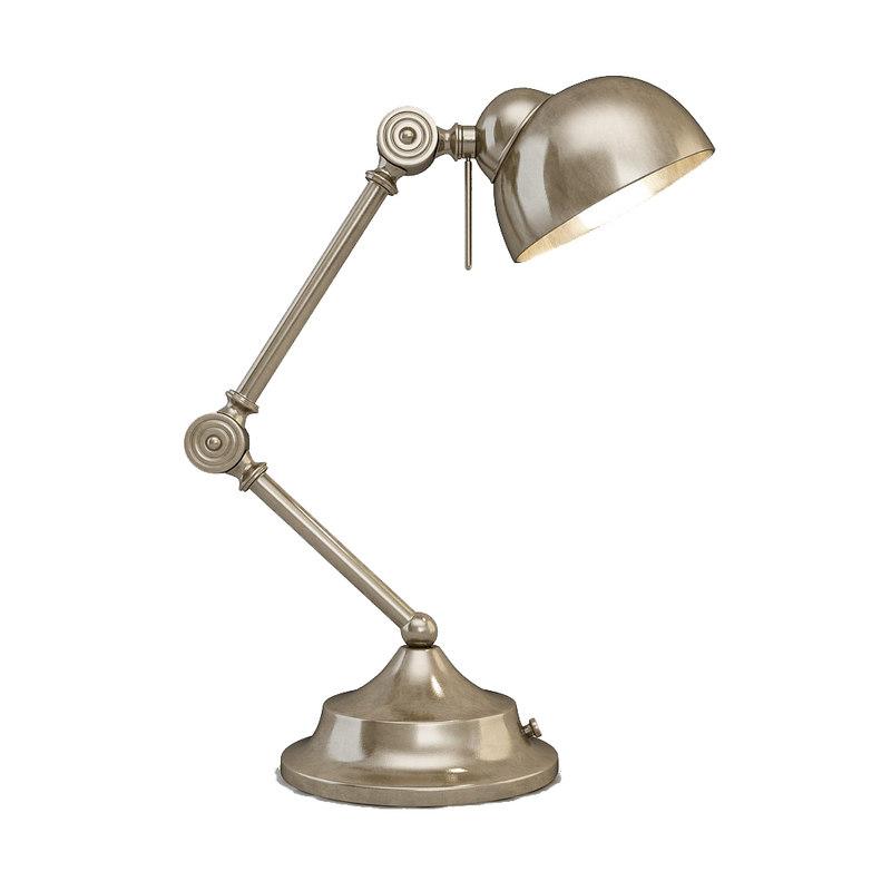lamp desk nickhel 3d model