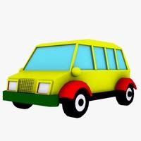 3d toy minibus bus