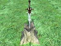 free 3ds model legendary sword