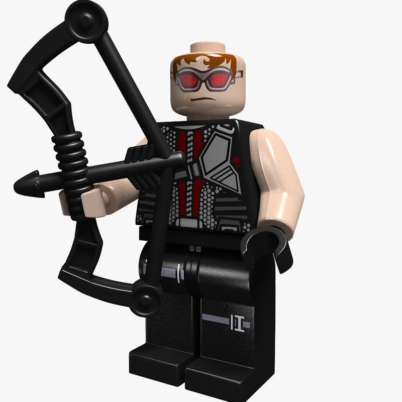 3d model man legoman