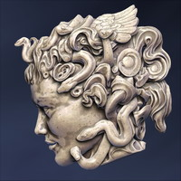 3d medusa head sculpture