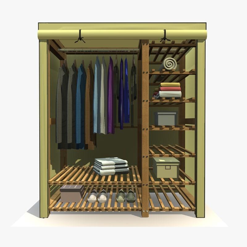 3ds max wardrobe clothes 1
