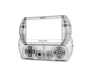 c4d playstation portable psp