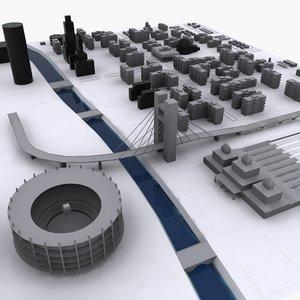 3d communist city 1 model