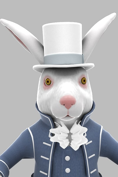 3d character march rabbit