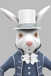 3d character march rabbit