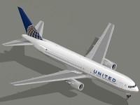 3d model boeing 767-300 er airliner