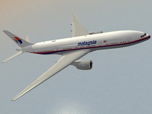 boeing 777-200 er airliner 3d model