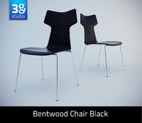 max bentwood chair black
