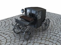 3d brougham carriage 19th