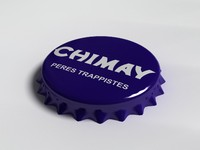 chimay bottle tin cap 3d 3ds