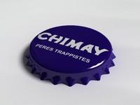 chimay bottle tin cap 3d 3ds
