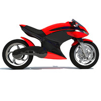 Free Sport Bike Concept 3D Model