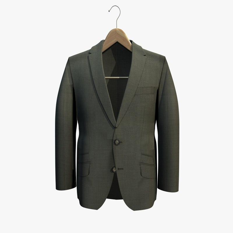 Jacket Hanger Blue Jacket Coat Hanger 3Ds