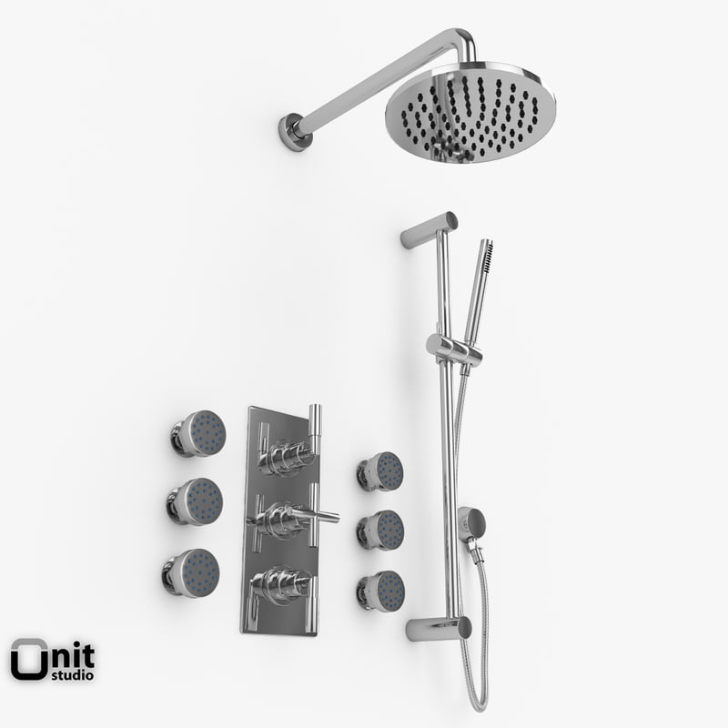 3d shower set helix series