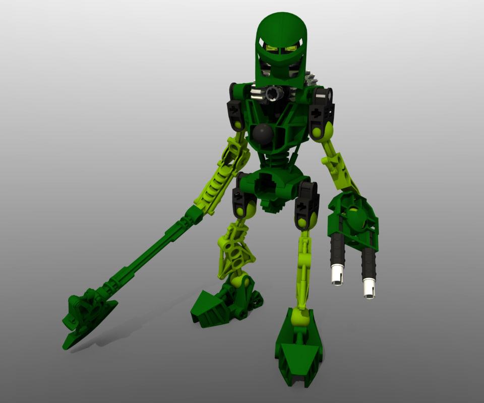 lego bionicle lewa - 3d model