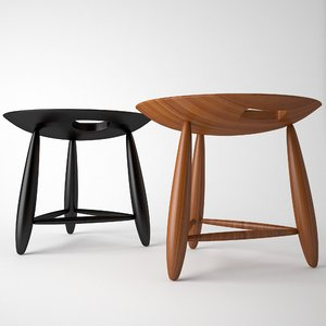 3d max mocho stool design sergio