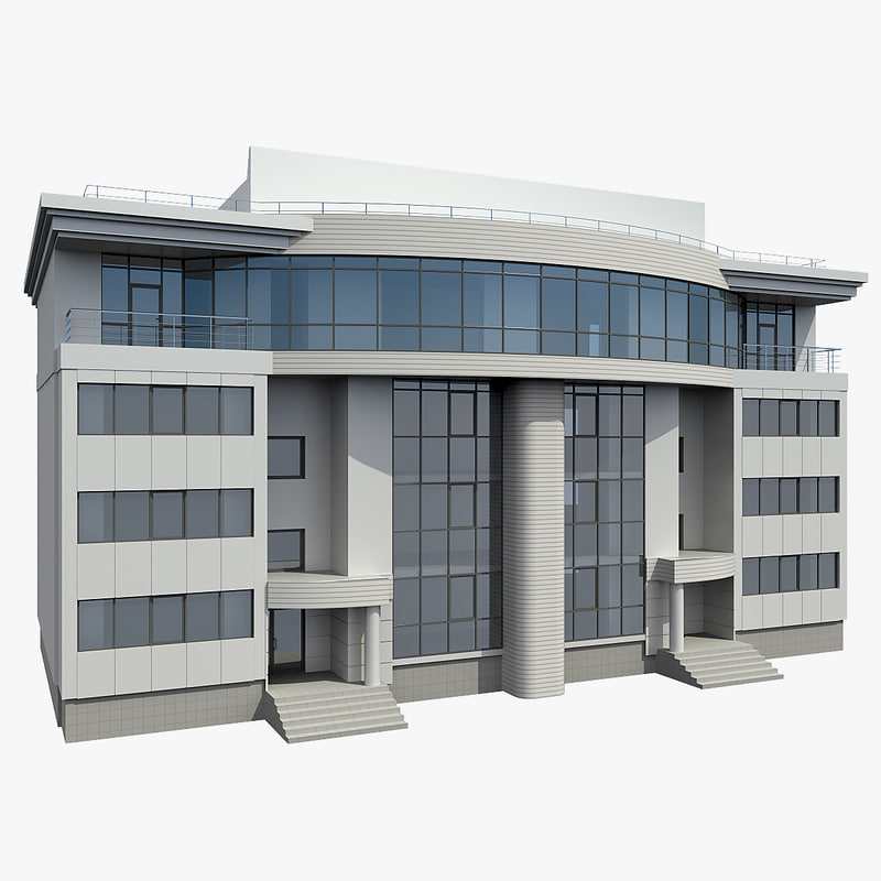 3d office building model for 3d house builder online