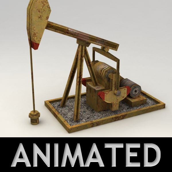 3ds max oil rig tank animation