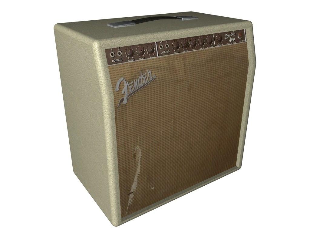 fender amp 3d model