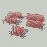 Ribbed Steel Bench