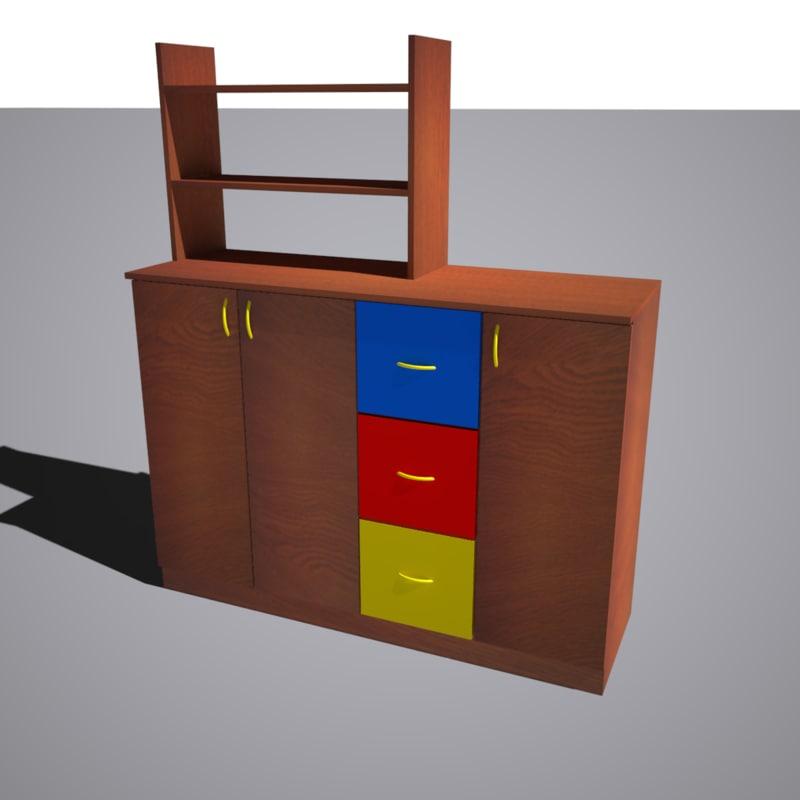 3d model cupboard library