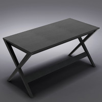 "Crate&Barrel - Spotlight Ebony 58"" Desk"