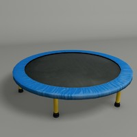 3d trampoline modeled