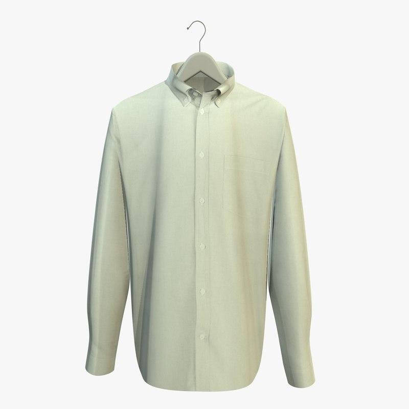 white shirt hanger 3d c4d