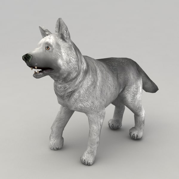 3d wolf pup model