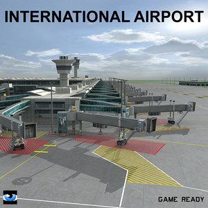 passenger airport 3d max